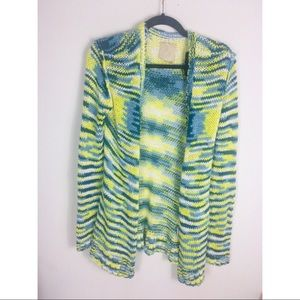 Chaser neon colorful knit sweater large